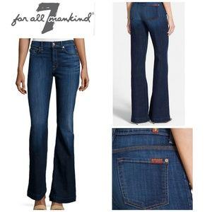 7FAM Ginger High-Waist Wide-Leg Jeans